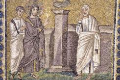 Mosaico S Apollinare Nuovo Canto Gallo