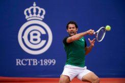 Federico Gaio In Azione Tennis