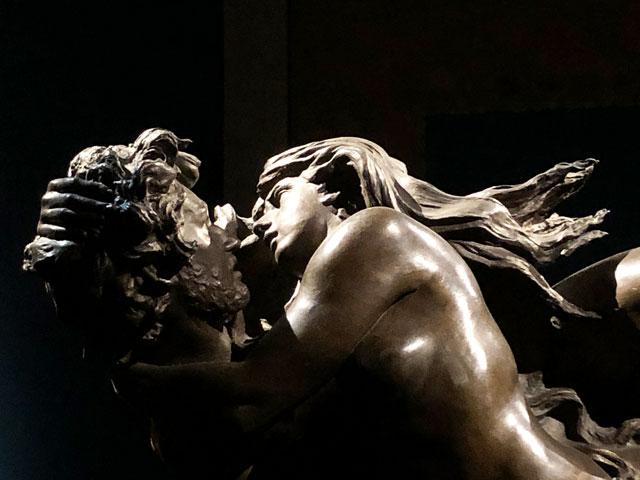 """Romolo Del Gobbo, """"Paolo e Francesca"""" (particolare), 1887-1905, bronzo, Ascoli Piceno, Pinacoteca Civica"""