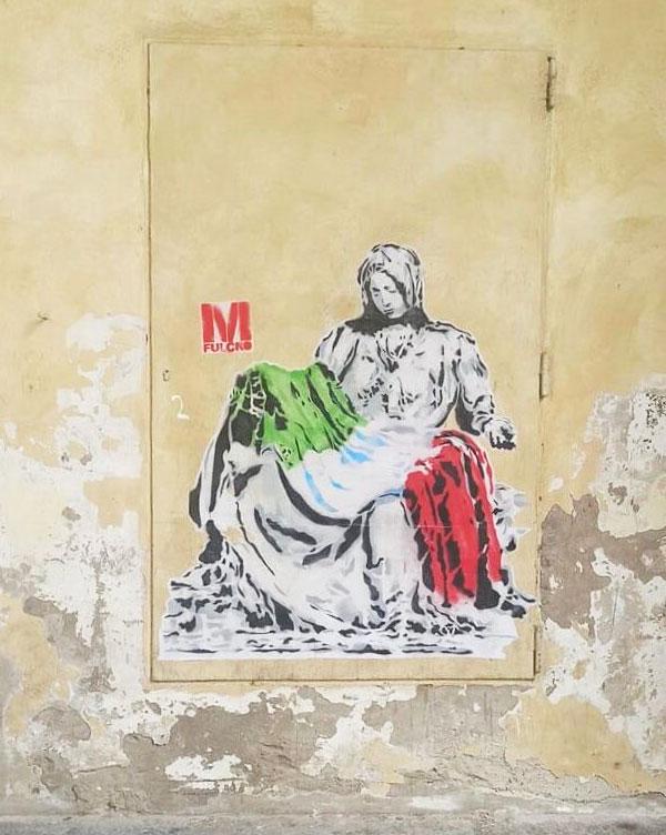 Il poster rimosso di Fulcro a Porta Adriana a Ravenna