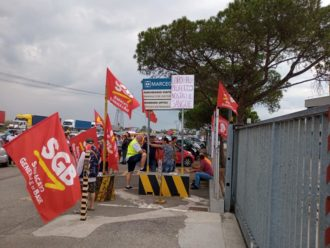 Protesta Marcegaglia Lavoratori