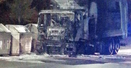 Camion Rifiuti Incendio