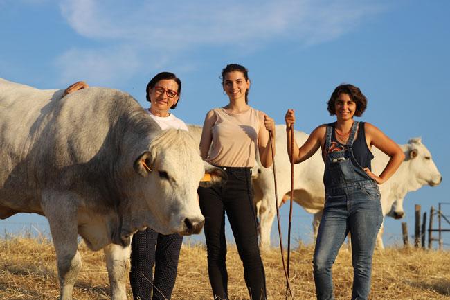 Laura Cenni, Fabiana, Angelica Allevatrici Bovini