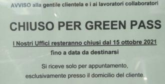 Chiuso Per Green Pass