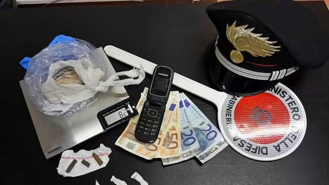 Carabinieri droga Lido Adriano